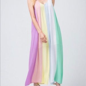 NWT Rainbow Jumpsuit (COLOR BRIGHTER THAN PHOTO)